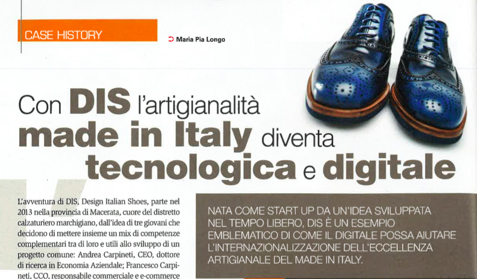 DIS Design Italian Shoes featured on Tecnica Calzaturiera February 2017