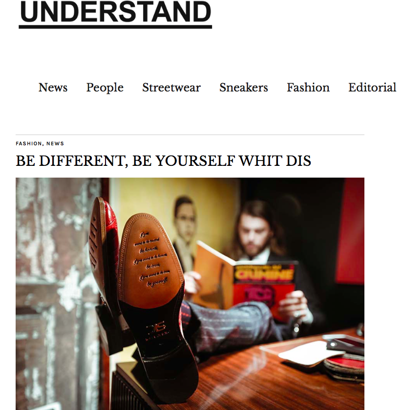 DIS Design Italian Shoes featured on Understand Mag
