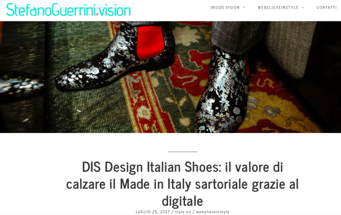 DIS Design Italian Shoes featured on Webelieveinstyle July 2017
