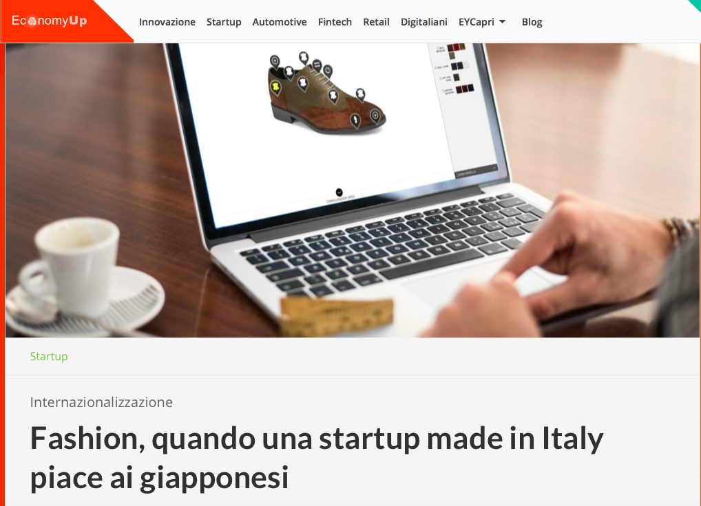 DIS Design Italian Shoes featured on Economy Up May 2017