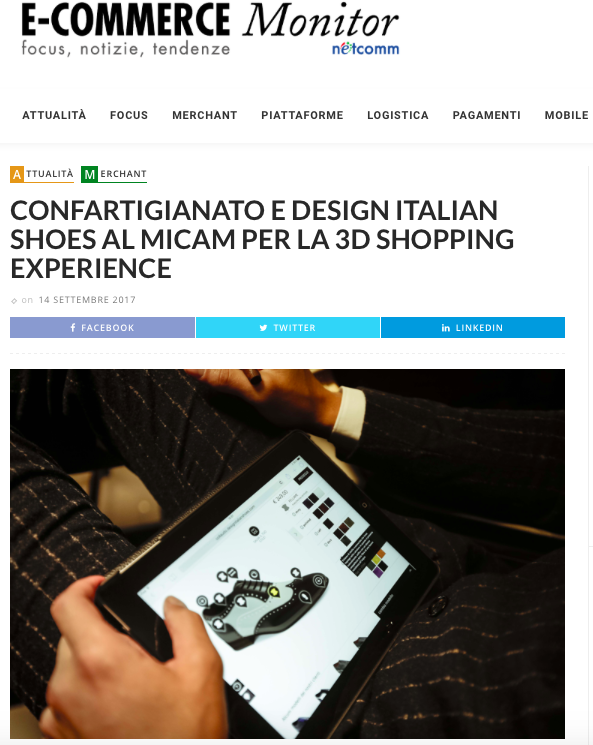 DIS Design Italian Shoes on E-Commerce Monitor 14 September 2017