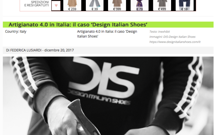 DIS -Design Italian Shoes featured on Exhibit 20 December 2017