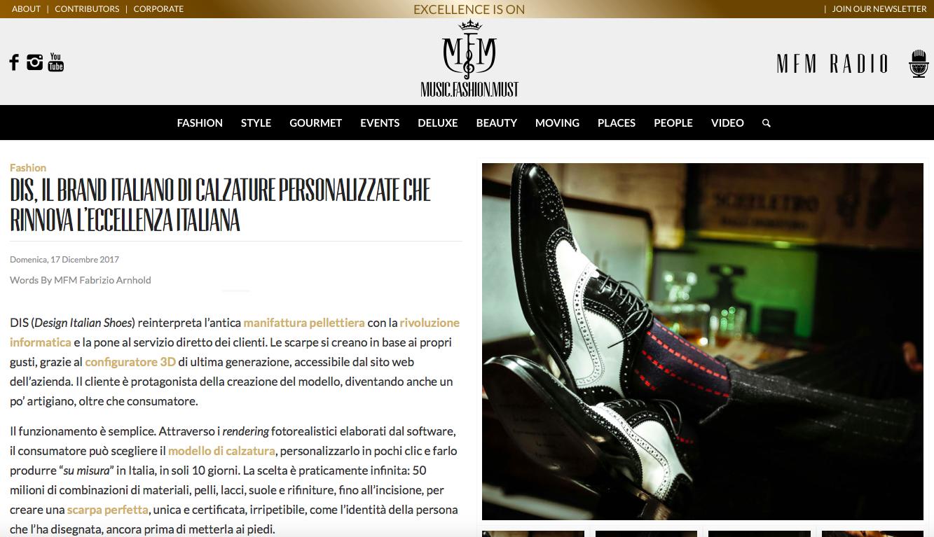 DIS Design Italian Shoes on MFM 17 December 2017