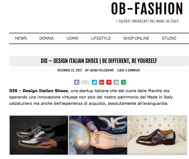 DIS Design Italian Shoes on OB Fashion 11 December 2017