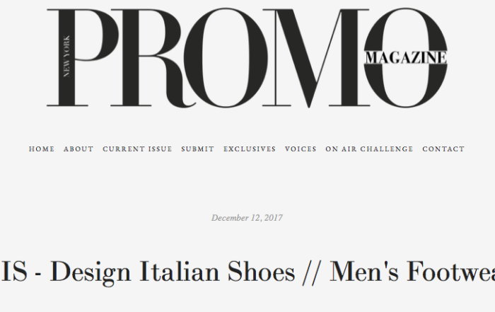 DIS - Design Italian Shoes on Promo Magazine 12 December 2017