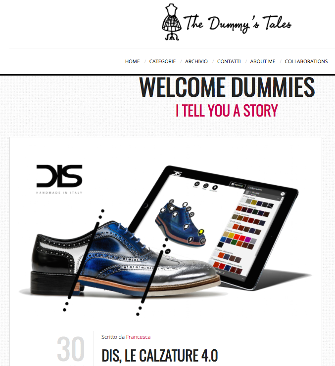 DIS Design Italian Shoes featured on The Dummy's Tales on January 30 2018