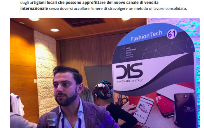 DIS Design Italian Shoes featured on Startupitalia 2 February 2018