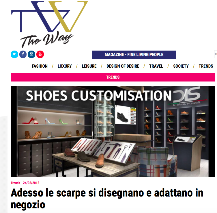 DIS Design Italian Shoes Featured on The Way Magazine February 24 2018
