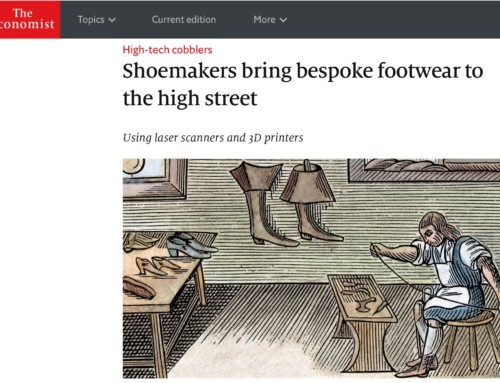 "THE ECONOMIST – ""Shoemakers bring bespoke footwear to the high street"""