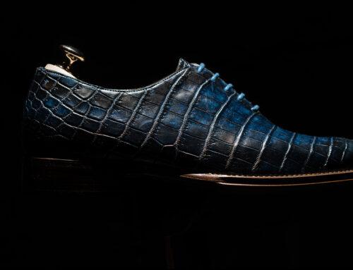 Scarpe uomo in pelle di coccodrillo