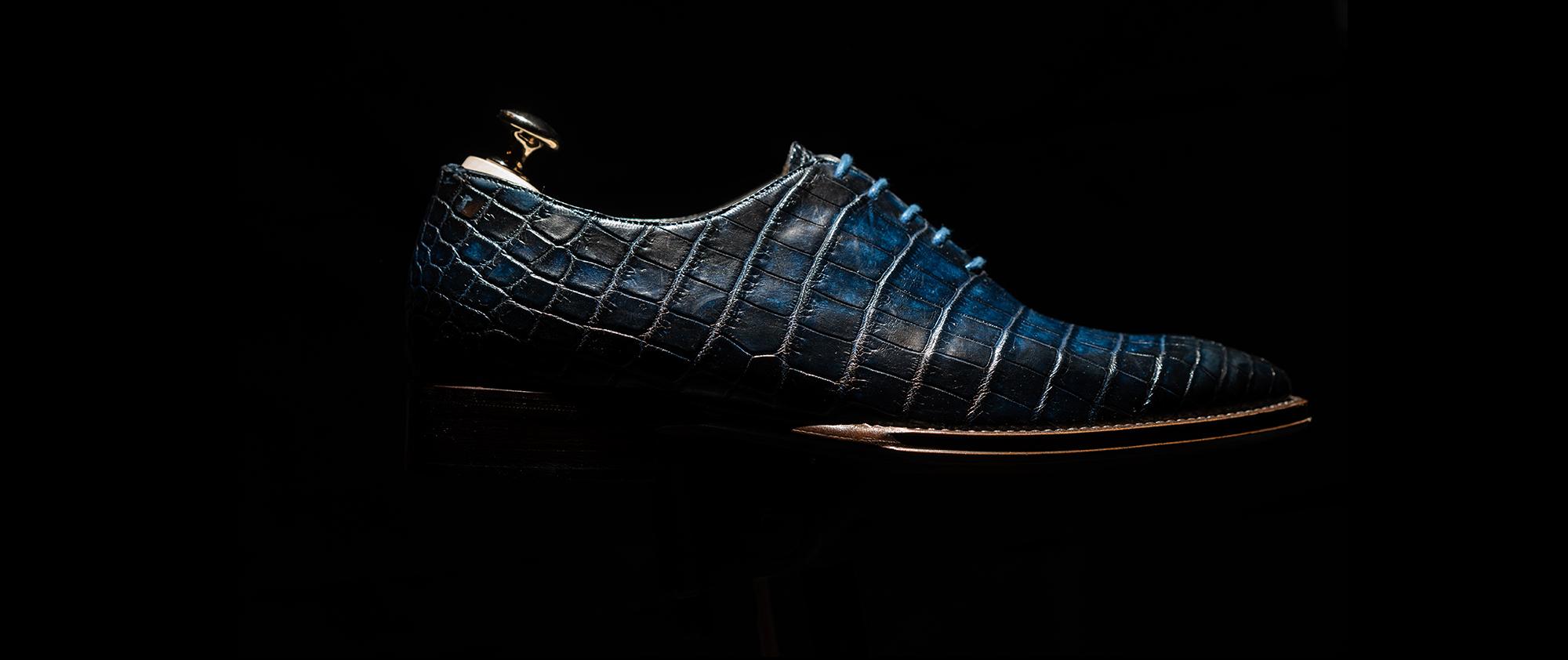 scarpe in pelle di coccodrillo